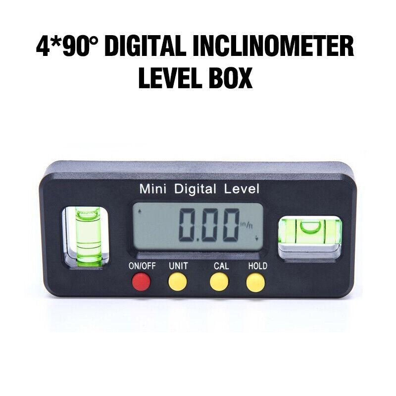 4*90° Magnet Digital Inclinometer Level Box Protractor Angle Finder Bevel Gauge