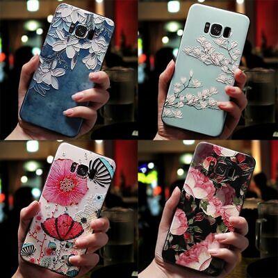Mobile Case 3D Flower Emboss Samsung Galaxy J7 J3 J5 A3 A5 J4 J6 Plus J8 Cover ()