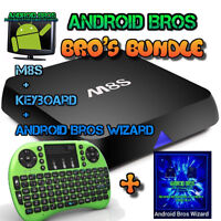 ANDROID BROS® BROS BUNDLE- M8S+Keyboard+Wizard **WOW** RATED #1