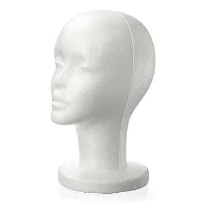 Fashion Female White Foam Styrofoam Hat Cap Wig Head Display Holder Model P4e5
