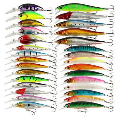 Goture 30pcs Fishing Lures Lot Wobblers Crankbaits Minnow Hard Bait Hoook Bass