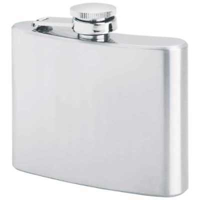 (Bulk Lot of 10 or 25 Pcs) 4 Oz Hip Flask Brushed Finish *Perfect for Engraving*
