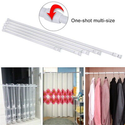 Extendable Telescopic Spring Loaded Net Voile Tension Curtain Rail Pole Rod Rods ()