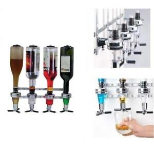 Mounted Liquor Dispenser 4 Bottle Beverage Wall Alcohol Cocktail Wine Beer - BRAND NEW - FREE SHIPPING