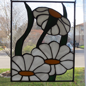 Stained Glass Panel - Flowers $100.00