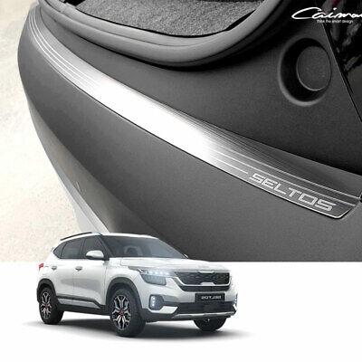 Silver Metal Trunk Step Rear Bumper Protector Cover for KIA 2019-2022 Seltos