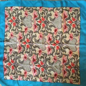 "LIBERTY OF LONDON Collectible Silk Floral Flower 23"" Square"