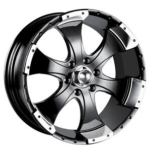 "Ion Alloy 136 Black Machined Wheel (15x6""/5x114.3mm)"