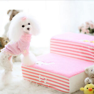 3 Steps Puppy Couch Indoor Step Stool Pink Chicken   For facilit