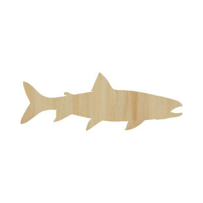 Laser Cut Out Wood Fish Trout Wood Shape Unfinished Laser Cut Wood Fish - Fish Sea Trout