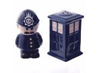 Policeman & Police Box Ceramic Salt & Pepper