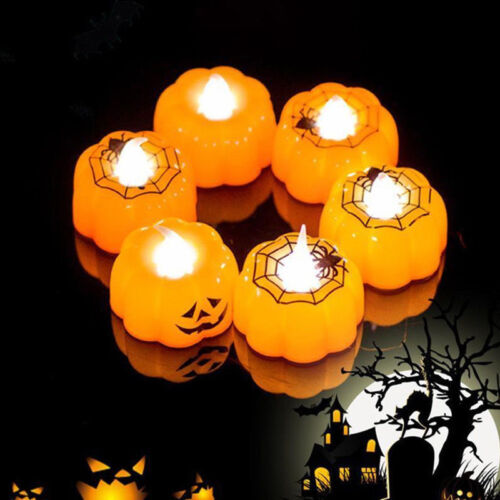 Halloween LED Candle Light Skeleton Pumpkin Night Light Party Home Decor