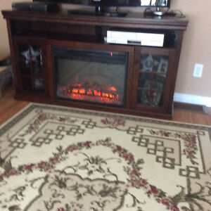 Muskoka Electric Fireplace with Glass Doors