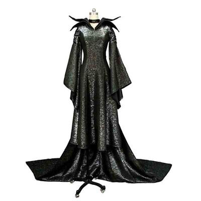 Maleficent Adult Costume (Maleficent Deluxe Evil Queen Adults Cosplay Costume Outfit Fancy Dress)