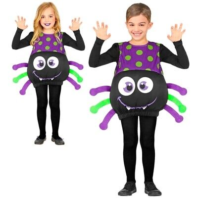 Schaurig schöne Spinne Kinder Kostüm -Jungen & Mädchen 104-110 Halloween (Schöne Kostüm)