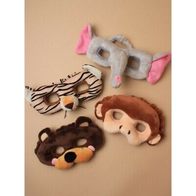 Wild Animal Plush Face Mask; Monkey, Elephant, Tiger, Bear; Party; Book Day, zoo ()