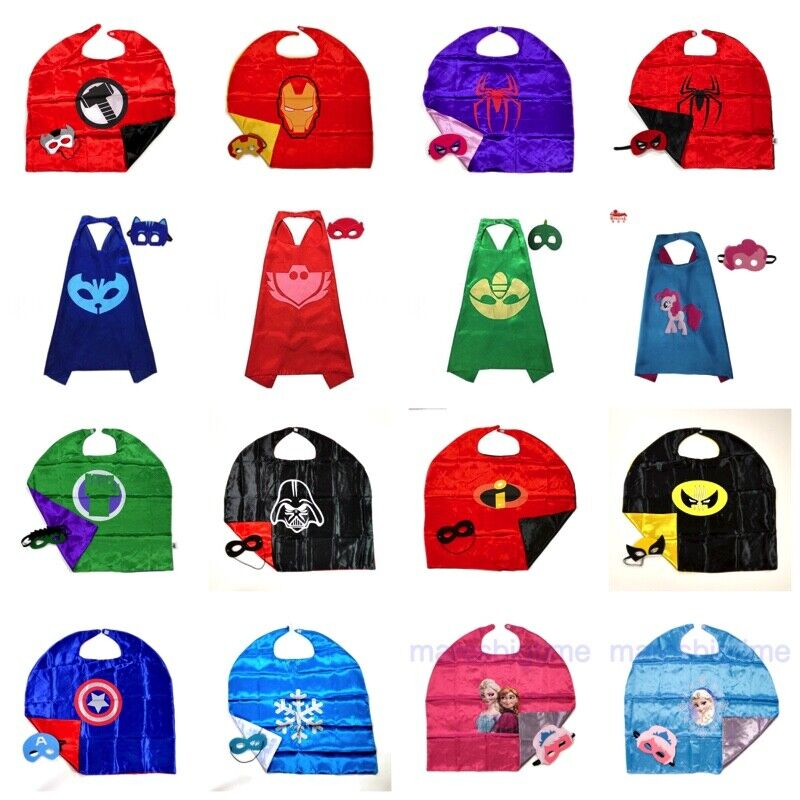 Superhero Capes and Masks Kids HALLOWEEN Costume Party Favor
