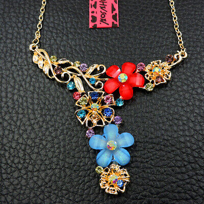 Pendant Charm Betsey Johnson Jewelry Enamel Colorful Flowers Women Necklace