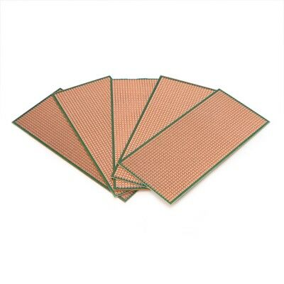 5x Stripboard Prototyping 6.5x14.5cm Uncut Pcb Platine Single Side Circuit Board