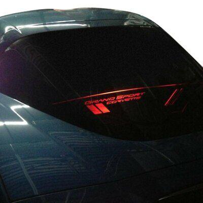 For 2005-2013 Corvette C6 Coupe Grand Sport Red Illuminated Wind Blocker