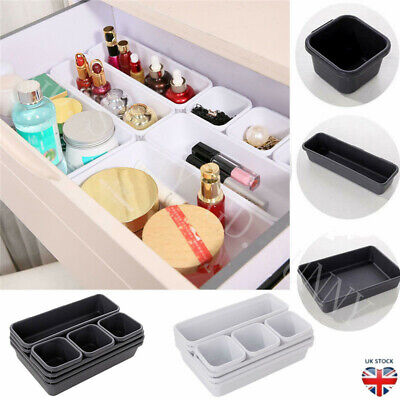 8X Storage Organizer Box Drawer Makeup Brush Storage Pot Jewellery Cover UK