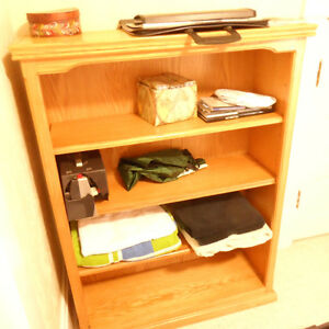 Solid wood book shelving units (2) total