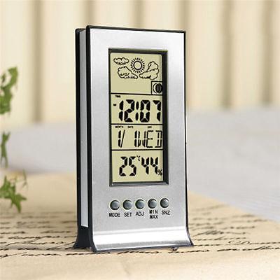 Digital Indoor LCD Hygrometer Thermometer Temperature Humidity Meter Alarm Clock