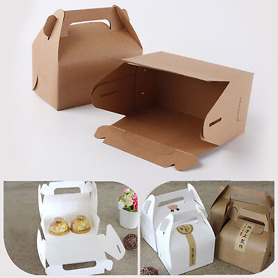10pcs Paper Gable Boxes Candy Cake Boxes Wedding Shower Birthday Party Gift Bags