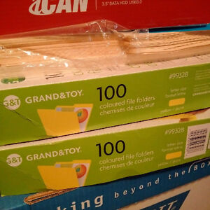 200 Grand and Toy Letter size file folders