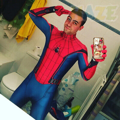 Spider-Man: Homecoming Cosplay Costume 3D Printed Halloween Adult/Kids Cool