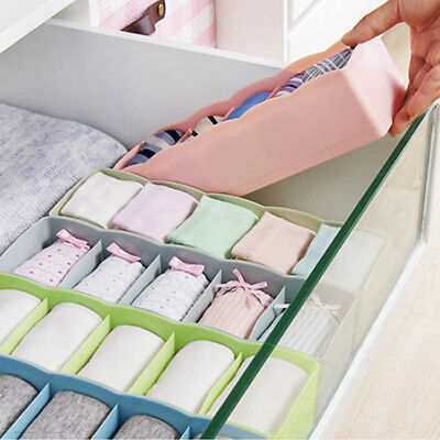 Plastic Organizer Tie Bra Socks Drawer Cosmetic Container Divider Storage Boxes