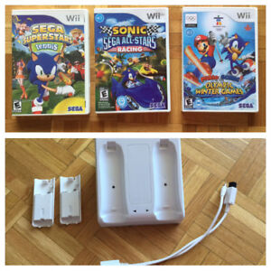 *Olympic Winter Games - Sonic Superstars Tennis- chargeur -10$ch