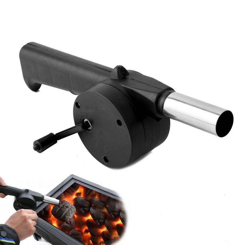 Outdoor Barbecue Fan Hand-cranked Air Blower Portable BBQ Gr