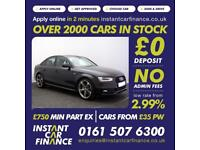 Audi A4 2.0TDI ( 150ps ) 2014MY Black Edition FROM £75 PER WEEK