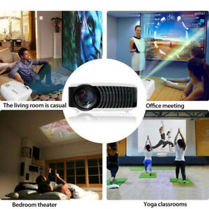 2018  Mini Portable LCD Projector,1080p HD 2400 Lumens