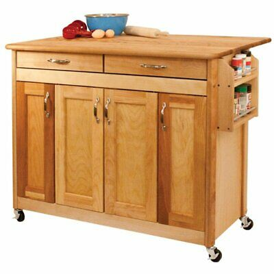 Catskill Craftsmen Kitchen Kitchen Cart - Catskill Craftsmen Kitchen Cart in Oiled Finish