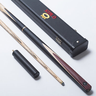 OMIN Snooker 3/4 Piece Ash Shaft Handmade Billiard Cue Stick + Extension & Case