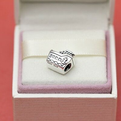 *New! Authentic Pandora All Aboard 791043 Cruise Ship Vacation Charm