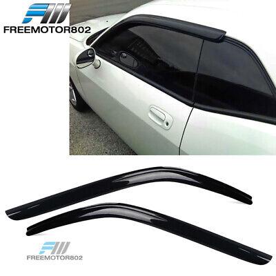 Fits 08-16 Dodge Challenger Slim Style Acrylic Window Visors Rain Sun Guard 2Pc