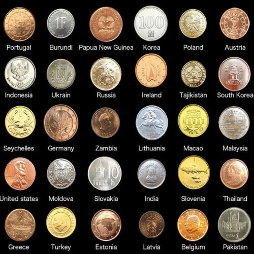 30 PCS Lot Coins From 30 Different Countries,UNC,Korea