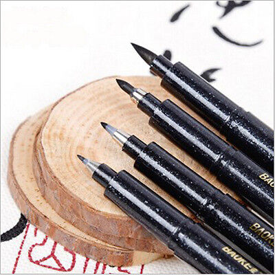 4Pcs/Set Portable Chinese Japanese Calligraphy Brush Sketch Pen Writing - Calligraphy Supplies