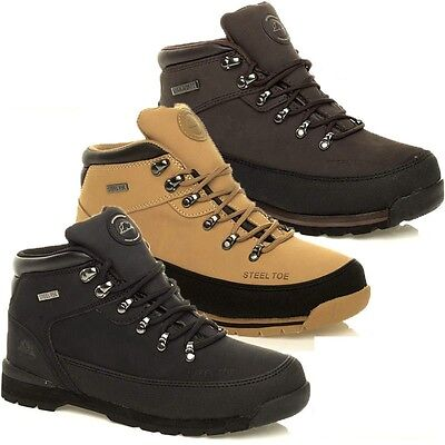 MENS LADIES WOMENS LIGHTWEIGHT LEATHER STEEL TOE CAP SAFETY BOOTS SHOES TRAINERS - Ladies Steel Toe Boots