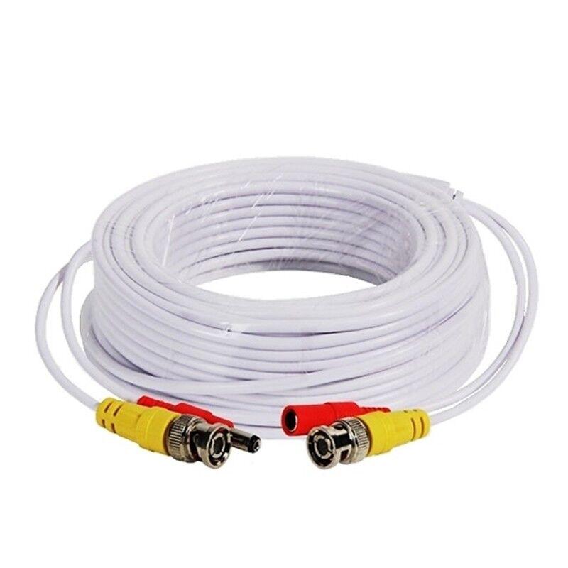 BNC DC CCTV Security Video Camera DVR Data Power Extension Cable 5m 10m 20m 30m
