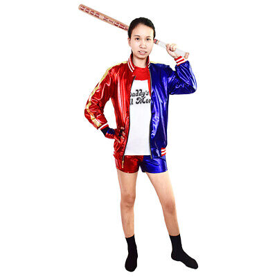Suicide Squad Harley Quinn Cosplay Costume suitable for Kid and Adult](Harley Quinn Costume For Adults)
