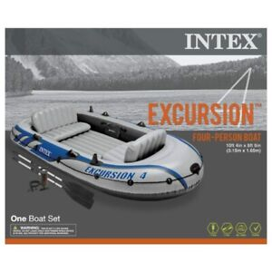 Intex Excursion 4 Inflatable Raft Set - Four Person Blow Up Boat