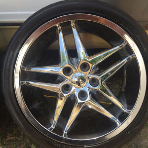 """DUB 18"""" rims chev 5 bolt and Good tires 225 40 r18 Sell or Trade Kingston Kingston Area image 3"""