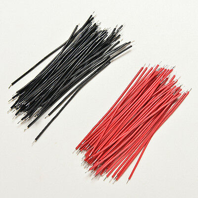 200pcs Black Red Kit Motherboard Breadboard Jumper Cable Wires Set Tinned 5cm Z0