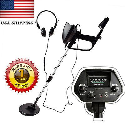 US Waterproof Metal Detector Sensitive Search Gold Digger Hunter Free Headphone