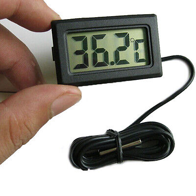 Mini Digital Lcd Indoor Outdoor Freezer Temperature Meter Thermometer Sensor Lot