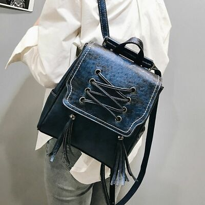 80's Fashion For Girls (Fashion Women Backpack for Teenage Girl PU Leather Tassel School Shoulder)